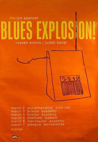 Jon Spencer Blues Explosion - Orange / UK Tour (March 1995)