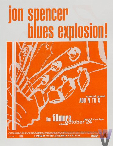 Jon Spencer Blues Explosion - The Fillmore, San Francisco, US (24 October 1998)