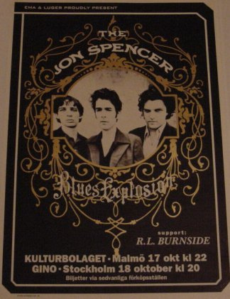 Jon Spencer Blues Explosion - Kulturbolaget, Malmö / Gino, Stockholm, Sweden (17/18 October 1996)