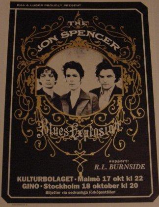 The Jon Spencer Blues Explosion - Kulturbolaget, Malmö / Gino, Stockholm, Sweden (17/18 October 1996)