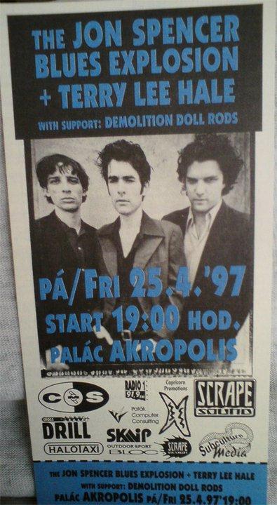 The Jon Spencer Blues Explosion - Palác Akropolis, Kubelíkova, Česká Republika (25 April 1997)
