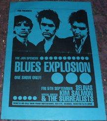 Jon Spencer Blues Explosion - Selinas, Sydney, Australia (5 September 1997)