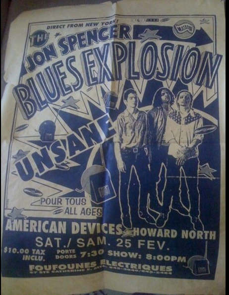 The Jon Spencer Blues Explosion - Foufounes Electrique, Montreal, Quebec, Canada (25 February 1995)