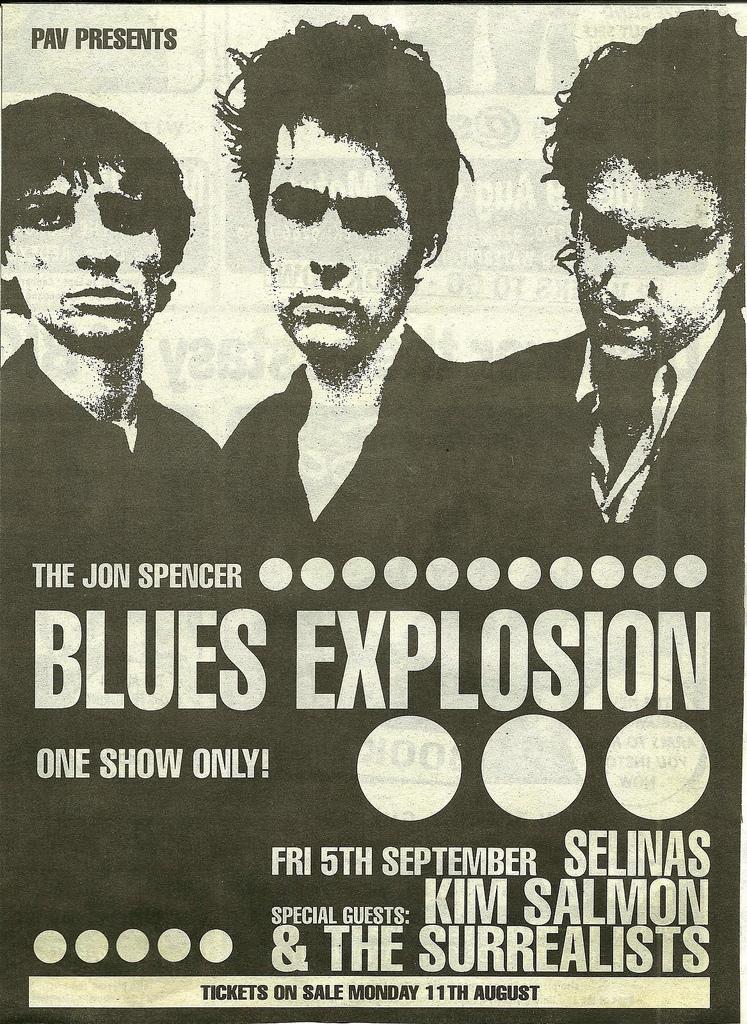 The Jon Spencer Blues Explosion - Selinas, Sydney, Australia (5 September 1997)