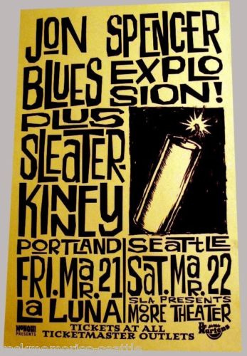 The Jon Spencer Blues Explosion - La Luna, Portland / Moore Theatre, Seattle, US (21/22 March 1997)