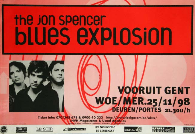Jon Spencer Blues Explosion - Vooruit, Gent, Belgium (25 November 1998)