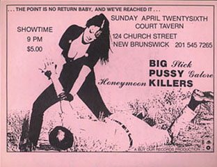 Pussy Galore - Court Tavern, New Brunswick, NJ, US (26 April 1987) - Front