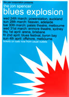 The Jon Spencer Blues Explosion - Australia / New Zealand Tour Dates (24 March 1999 - 4 April 1999) -  Rear