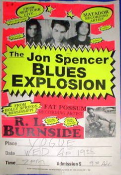 The Jon Spencer Blues Explosion - The Vogue, Indianapolis, Indiana, US (19 April 1995)