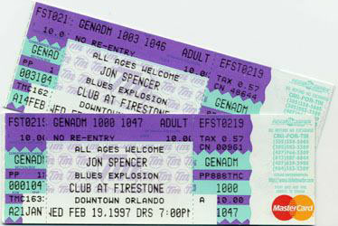 The Jon Spencer Blues Explosion - The Club @ Firestone, Orlando, Florida, US (17 February 1997)