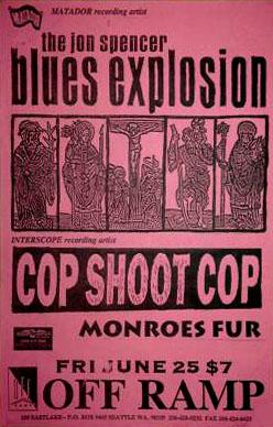 The Jon Spencer Blues Explosion - Off Ramp, Seattle, WA, US (25 June 1993)