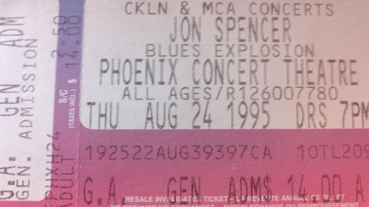 The Jon Spencer Blues Explosion - The Phoenix, Toronto, ON, Canada (24 August 1995)