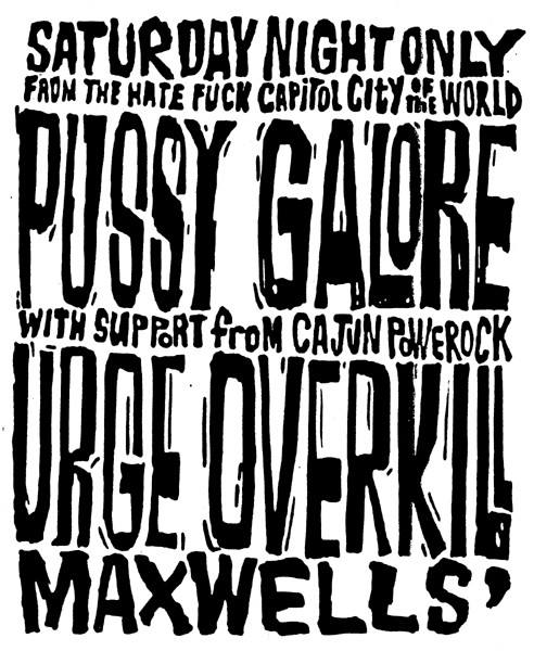 Pussy Galore - Maxwell's, New York, NY, US (8 August 1987)