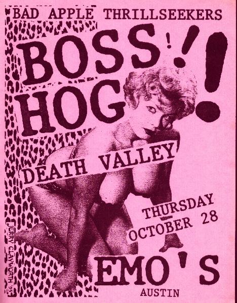 Boss Hog - Emo's, Austin, TX, US (28 October 1993)