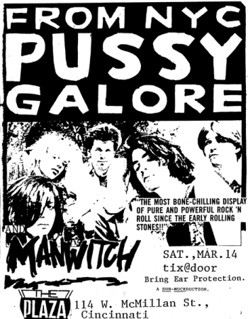 Pussy Galore - The Plaza, Cincinnati, OH, US (14 March 1987)