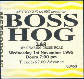 Boss Hog - LA 2, London, UK (1 November 1995)