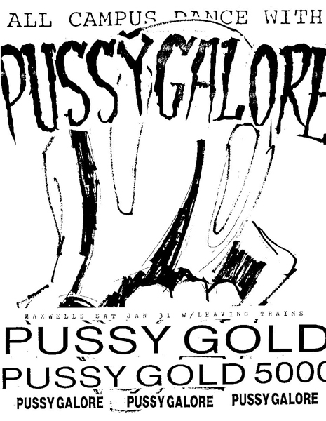 Pussy Galore - Maxwell's, Hoboken, NJ, US (31 January 1987)