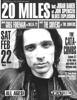 20 Miles - Catacombs, Madison, WI, US (22 February 2003)