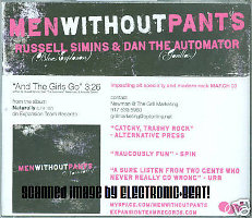 Men Without Pants - And The Girls Go [Promo] (CD, US)