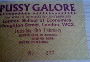 Pussy Galore - London School of Economics, London, UK (9 February 1988)