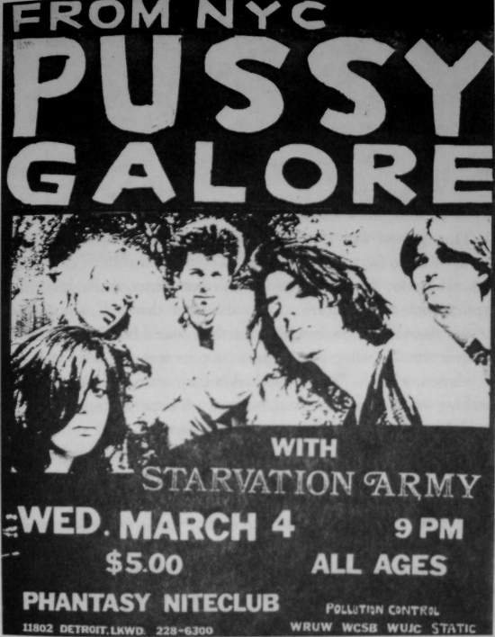 Pussy Galore - Phantasy Niteclub, Cleveland, US  (4 March 1987)