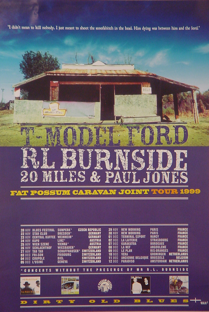 20 Miles - Fat Possum Caravan Joint Tour (POSTER, EUROPE)
