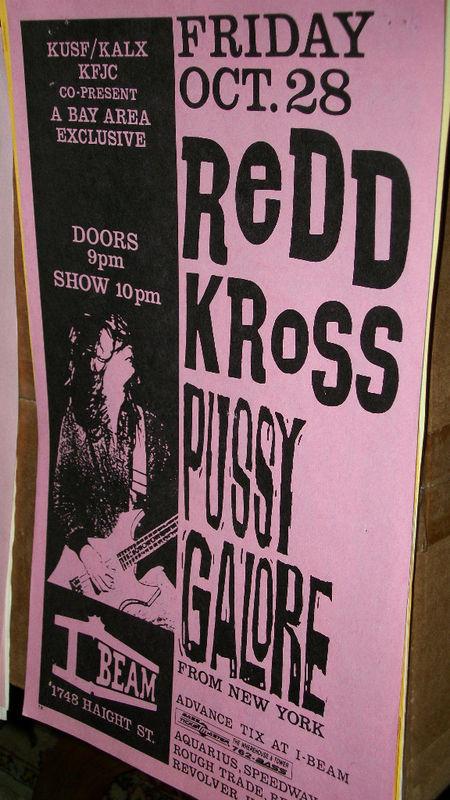 Pussy Galore - The I-Beam, San Francisco, CA, US (28 October 1988)