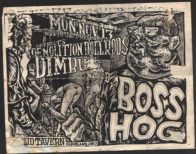 Boss Hog - Euclid Tavern, Cleveland, Ohio, US (13 November 1995) - Poster