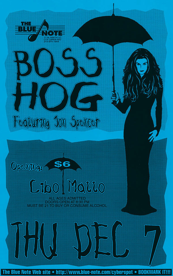 Boss Hog - Blue Note, Columbia, Missouri, US (7 December 1995)