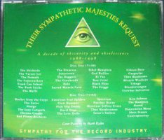 V/A feat. Gibson Bros. - Their Sympathetic Majesties Request: A Decade of Obscurity and Obsolescence 1988 - 1998 (2xCD, US) - Rear