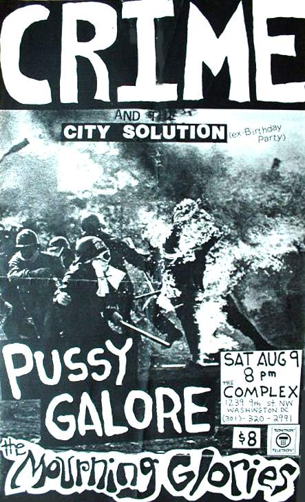 Pussy Galore - The Complex, Washington, DC, US (9 August 1986)