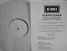 "Duran Duran - Electric Barbarella [Promo] (12"", UK)"