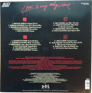 V/A feat. Gibson Bros. – Love Is My Only Crime (2xLP, GERMANY) - Rear