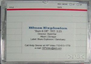 Blues Explosion - Burn It Off (MINI DV, US) - Case