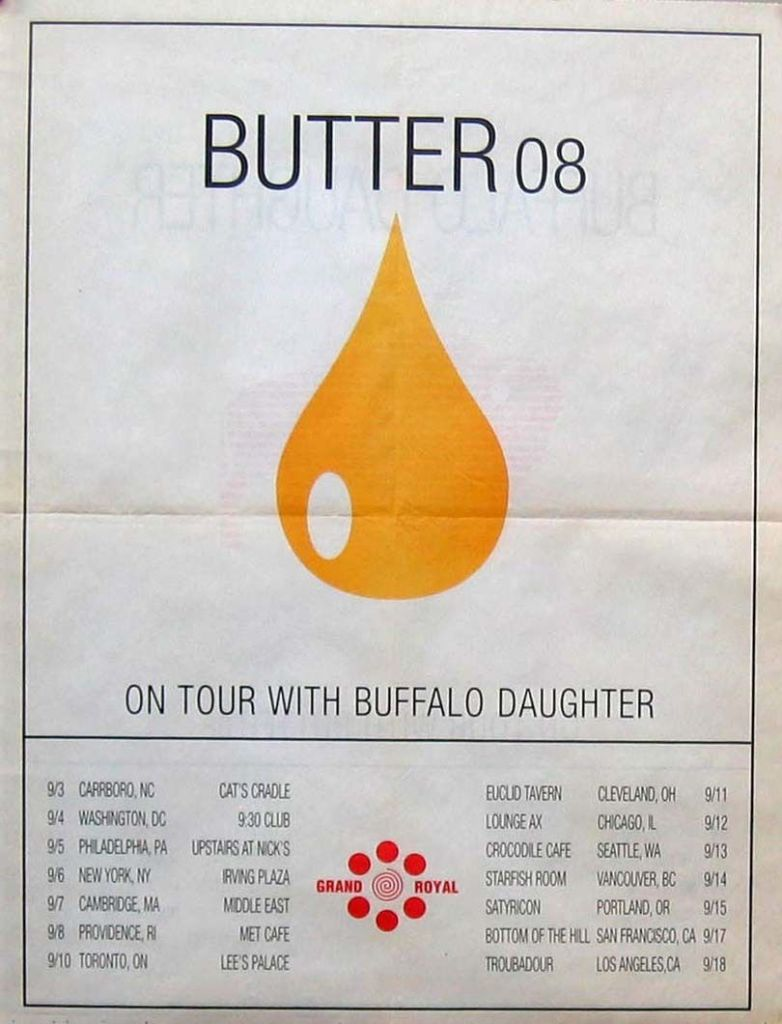 Butter 08 - September 1996 Tour (POSTER, US)