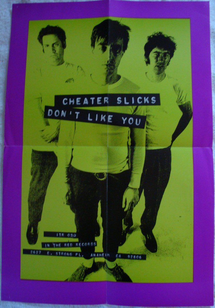 Cheater Slicks - Don't Like You (POSTER, US)