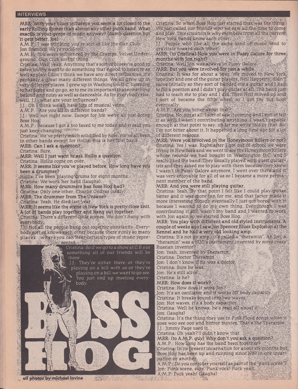 V/A feat. Crunt / Boss Hog – Maximum RockNRoll (PRESS, US)