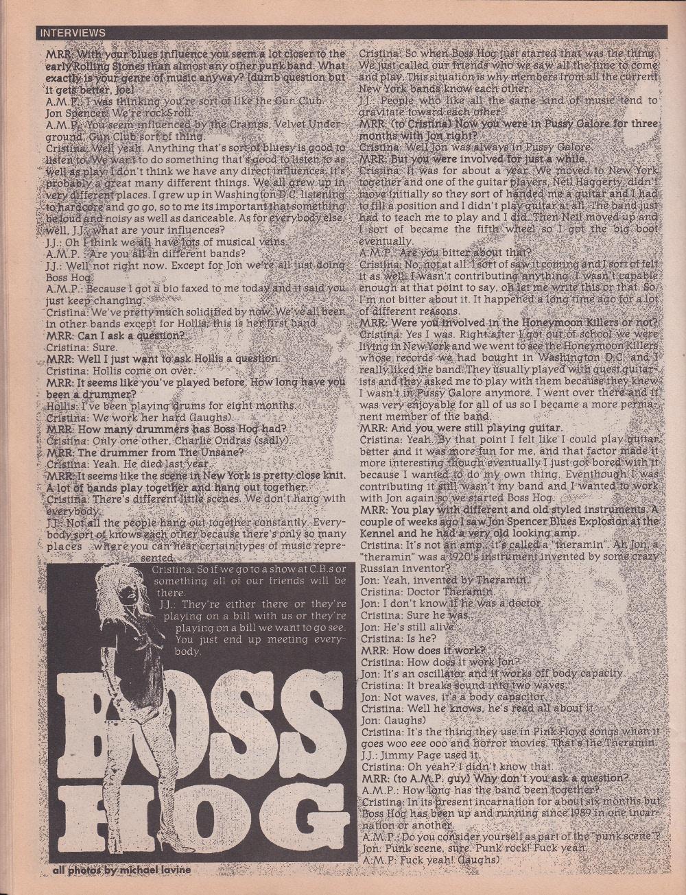 V/A feat. Crunt / Boss Hog – Maximum RockNRoll (PRESS, US)