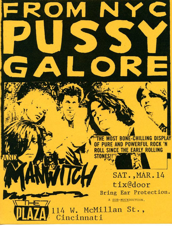Pussy Galore – The Plaza, Cincinnati, OH, US (14 March 1987)