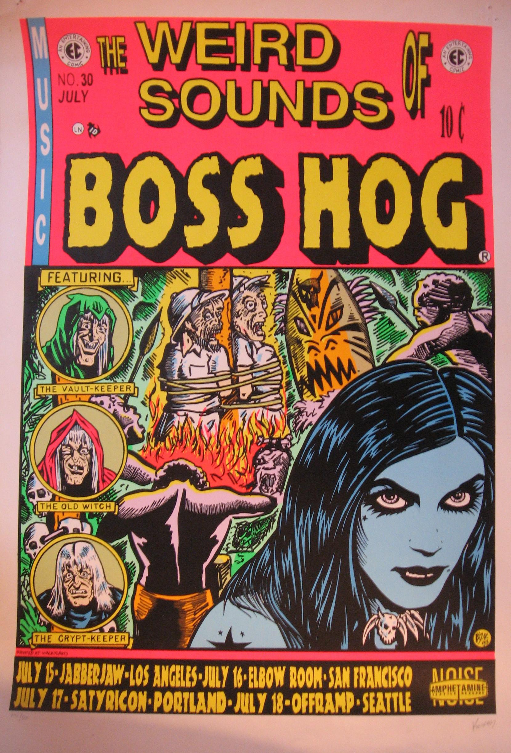 Boss Hog - Weird Sounds of Boss Hog: Tour Poster (15 - 18 July 1993)