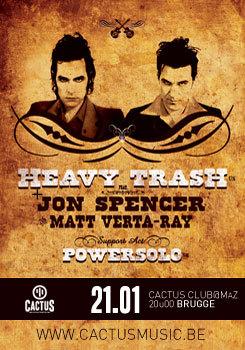 Heavy Trash - Cactus Club, Brugge, Belgium (21 January 2008)