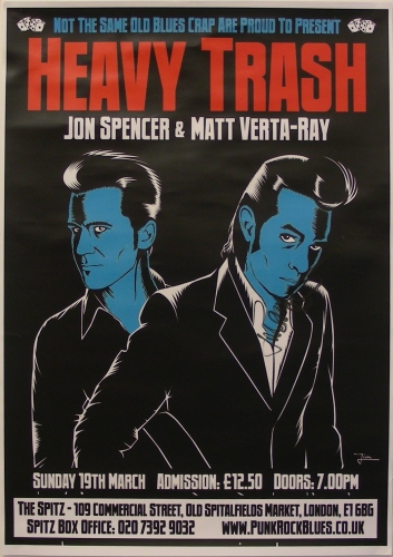 Heavy Trash - The Spitz, London, UK (19 March 2006) - Poster