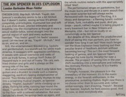 The Jon Spencer Blues Explosion - NME: London Harlsden Mean Fiddler (PRESS, UK)