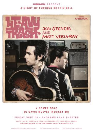 Heavy Trash - Andrews Lane Theatre, Dublin, Ireland (26 September 2008)