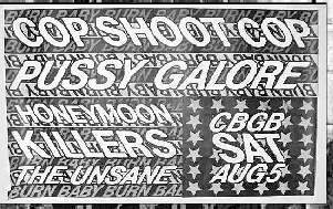 Pussy Galore - CBGB, New York City, NY, US (5 August 1989)