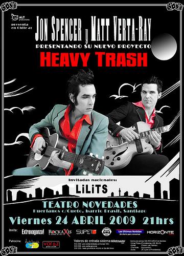 Heavy Trash - Teatro Novedades / Cerro Bellavista (Gapon 6), Chile (24 April 2009)