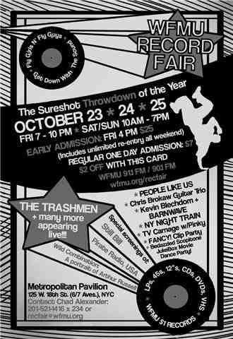 Heavy Trash - WFMU Record Fair, Metropolitan Pavilion, New York City, NY, US (24 October 2009)