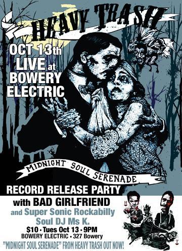 Heavy Trash - Bowery Electric, New York City, NY, US (13 October 2009)