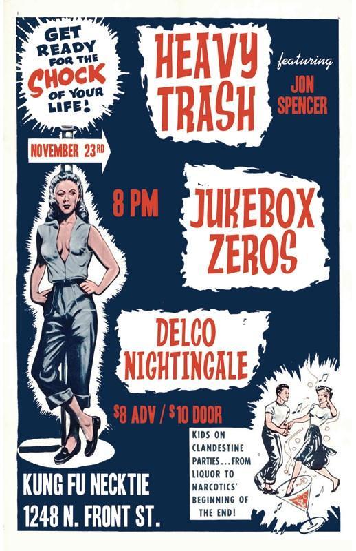 Heavy Trash - Kung Fu Necktie, Philadelphia, PA, US (23 November 2009)