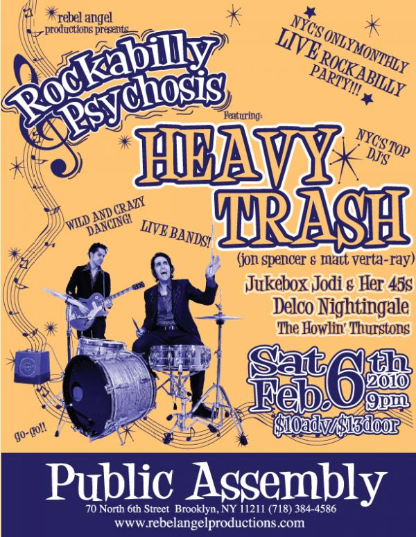 Heavy Trash - Public Assembly, Brooklyn, NY, US (6 February 2010)